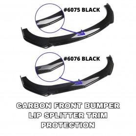 New Car Universal Front Bumper Diffuser Lip Wrap Angle Splitters Black/Double Layer