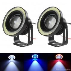 New 2PCS 30W 12V COB LED Car Fog Light Lamp  Auto Car Angel Eyes Light