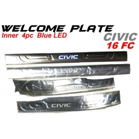 Welcome Plate Inner Honda Civic 16
