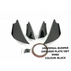 UNIVERSAL BUMPER DIFFUSER PLATE