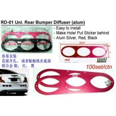 Rear Bumper Diffuser Alum