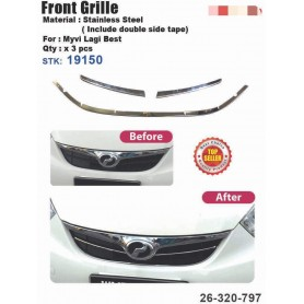 Myvi Lagi Best Front Grill Chrome Cover